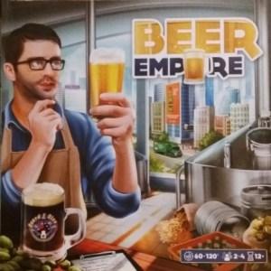 Beer Empire. Caja del juego