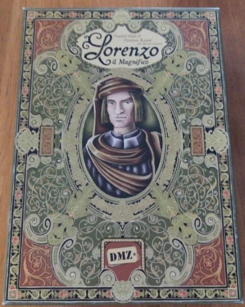 Lorenzo el Magnífico. Caja del juego
