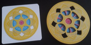 Magic Mandala. Mandala amarilla