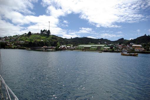 Ankern vor Quemchi, Isla Chiloe