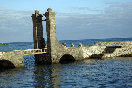 Hafendetail vom Alten Hafen in Arrecife