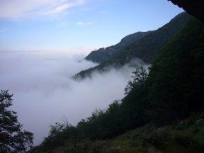 23 Na het noodweer in onze prive berghut nabij Bocca di Lapara aan de Mare a Mare