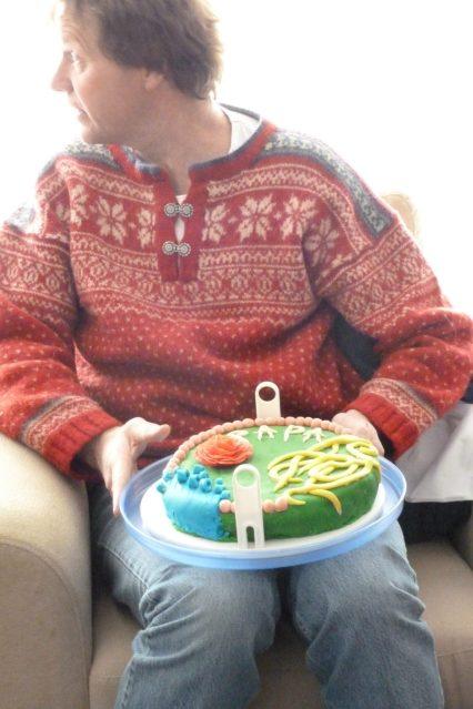 Eefke heeft een taart gemaakt