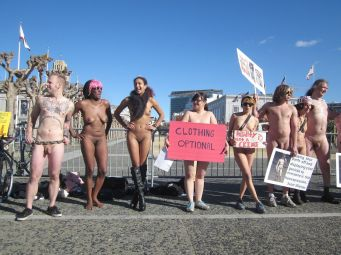 SF Nude Ban Protest