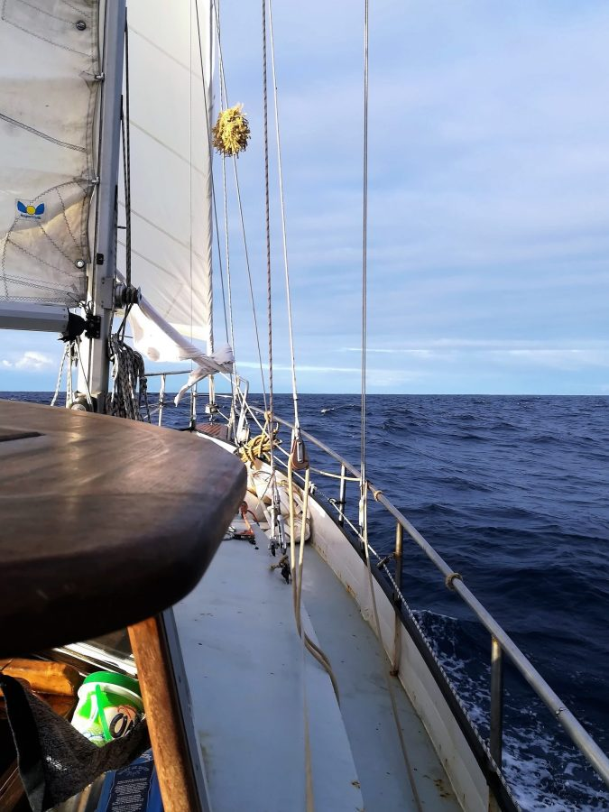 We varen richting Cabo Verde