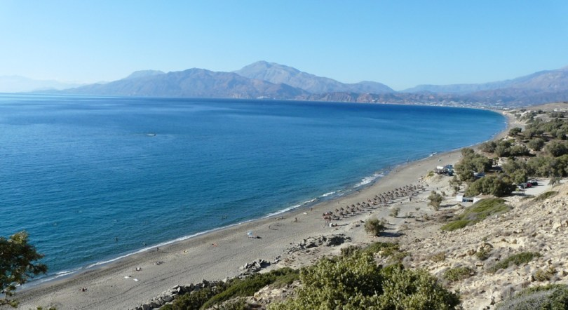 Komos beach between Matala and Kalamaki in south Crete