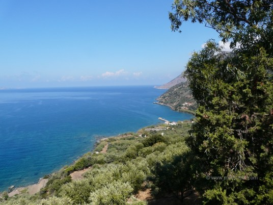Ravdoucha beach - View to Ravdoucha coast line Rodopou Crete
