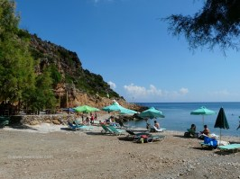 The quite small bay with the Afrata beach