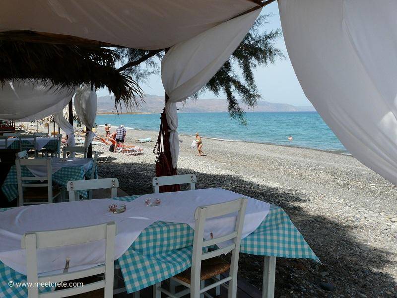 at the beach in Maleme Crete