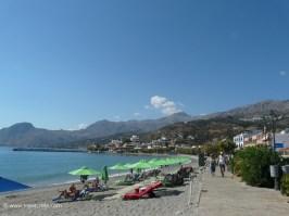 Beach at the eastern village entrance of Plakias Crete