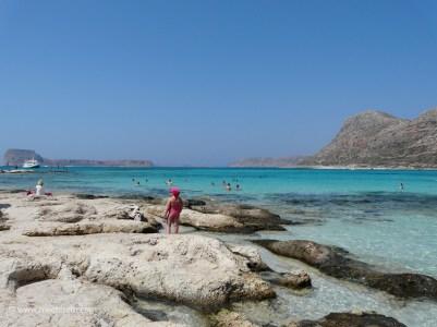 Choose between sand or gentle rocks at Balos beach Crete