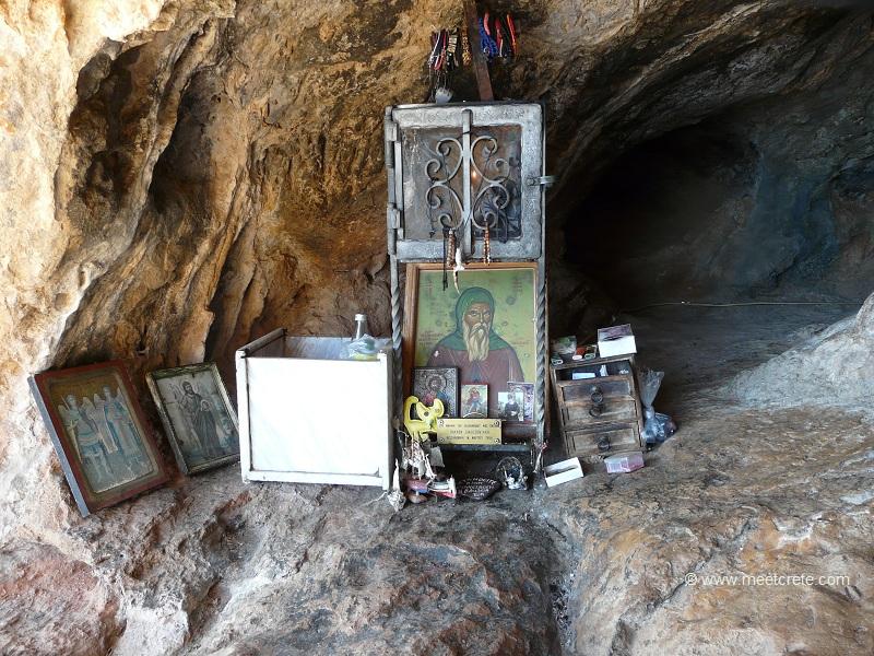 The cave in Kapsa monastery Crete