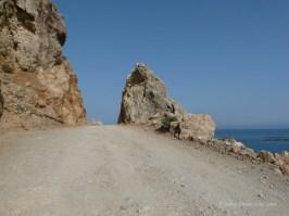 Road to Gialiskari beaches Paleochora Crete