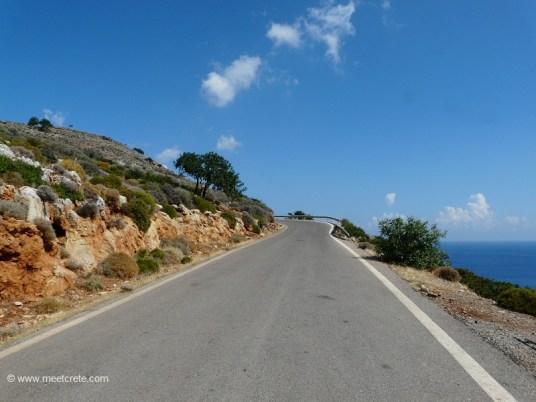 Driving to Afrata beach Crete