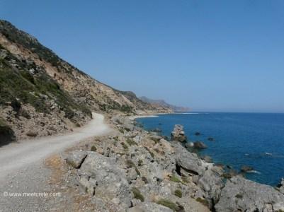 4km dirt road from Paleochora to Gialiskari beaches