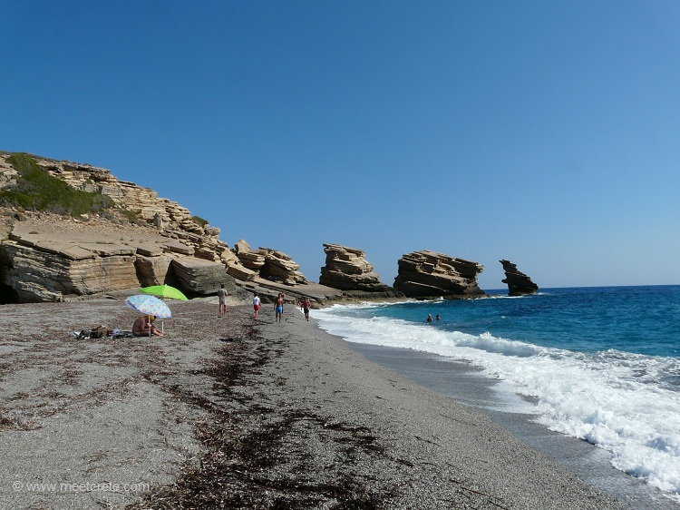 Off-Road Trip Crete: Preveli Monasteries and Palm Beach, Triopetra Beach
