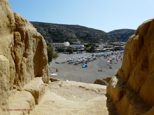 The ancient city of Matala Crete