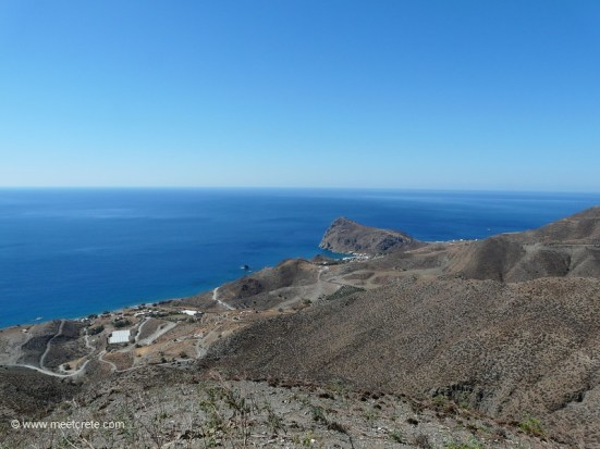 View to Lentas village in south Crete