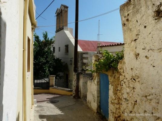 Kalives village in north west Crete