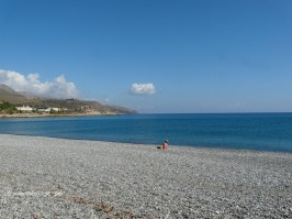 The beach in Kolymbari Crete