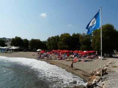 Beach in Kalyves village in north west Crete