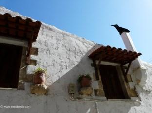 Tylissos village in central Crete