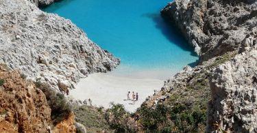 Seitan Limania Strand (auch Stefanou Strand) – smaragdfarbenes Meer auf der Akrotiri Halbinsel