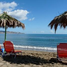 Amoudara beach at the western outskirts of Heraklion