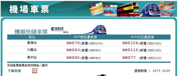 機場快線 - MeetHK.com 旅遊情報網