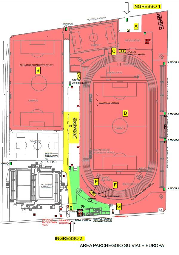 mappa stadio