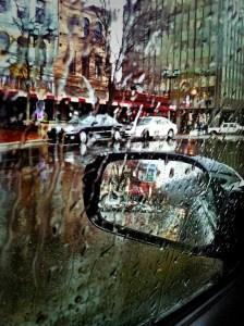Rain on a windshield
