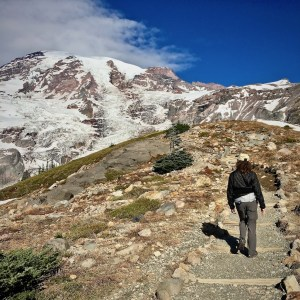Hiking at Mount Rainer