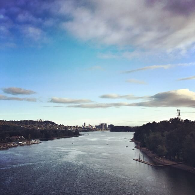 View of Portland from the Sellwood Bridge