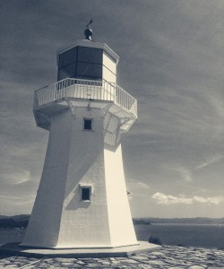 Photo of the Pencarrow Lighthouse, Wellington, New Zealand