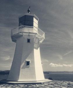 Photo of the Pencarrow Lighthouse, Wellington, New Zealand