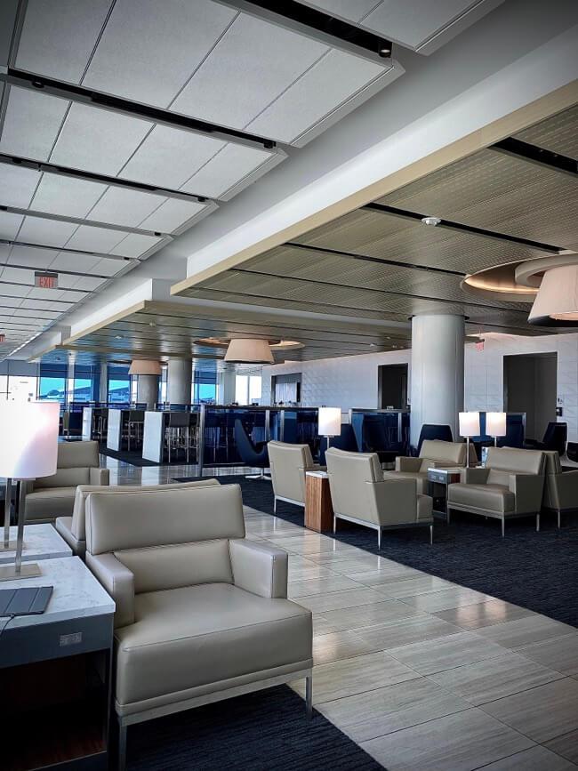 Empty United Club Lounge at LAX