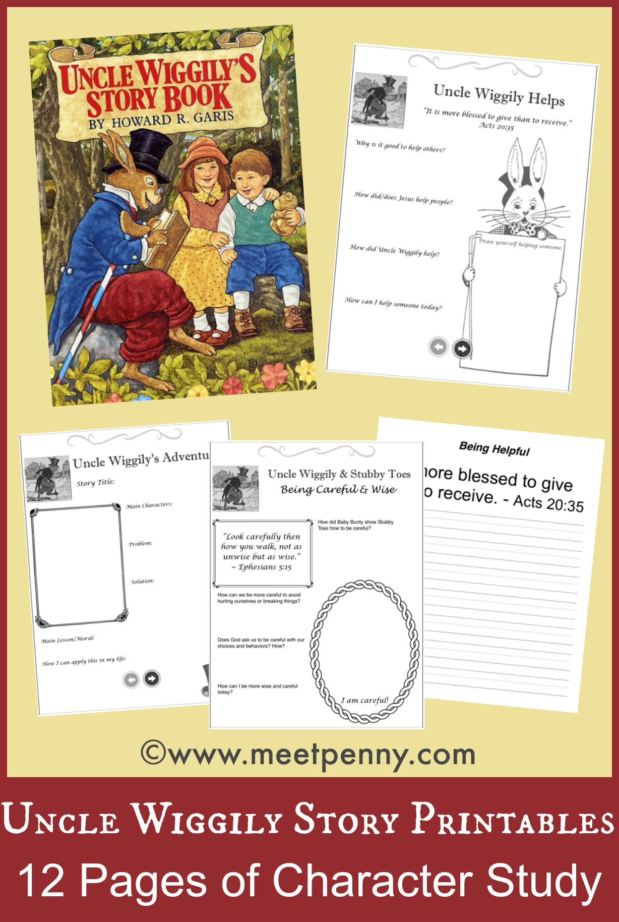 Uncle Wiggily S Story Book Unit Activities And Printables