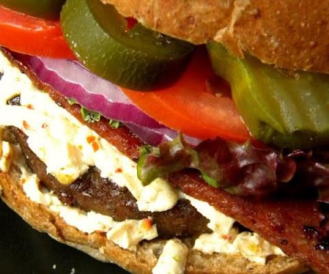 The 3 Alarm Vegan Bacon Cheeseburger