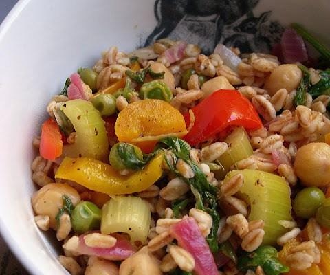 Lemon Pepper Farro with Vegetables