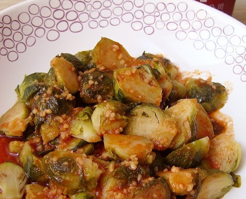 The People Have Spoken! Brussels Sprouts in Sriracha Lime Sauce