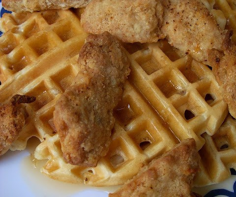 The Betty Crocker Project : Baked Vegan Chicken & Waffles