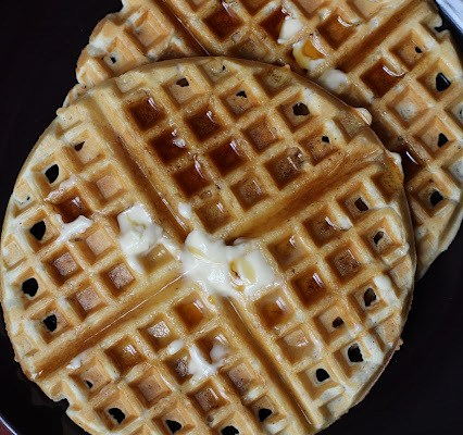 Embarrassingly Super Simple Hazelnut & Flaxseed Waffles