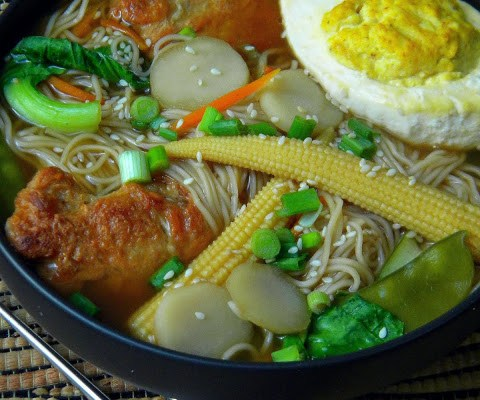 And We're Back… & this time we made Vegan Garlic Chicken Ramen featuring the Vegan Hard Boiled Egg