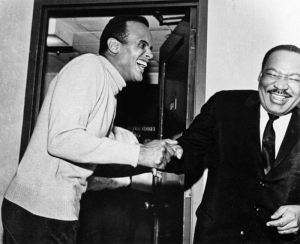 MLK Jr. & Harry Belafonte Photo Credit: LIFE magazine (maybe)