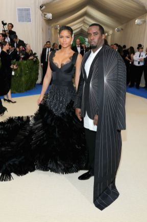 """Cassie in On Aura Tout Vu and Sean """"Diddy"""" Combs in Rick Owens"""