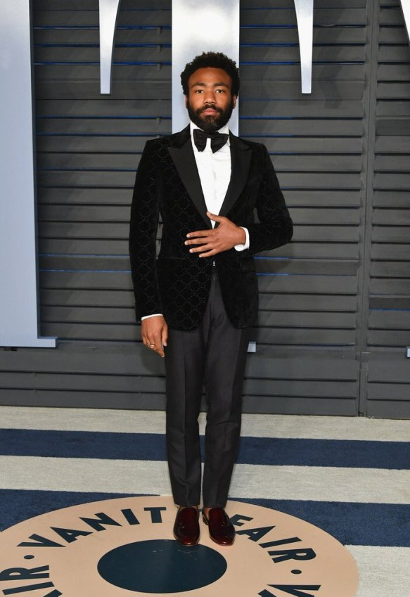 Donald Glover at the Vanity Fair Oscars Party