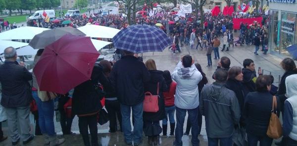 Solidaritäts-Demo in Stuttgart