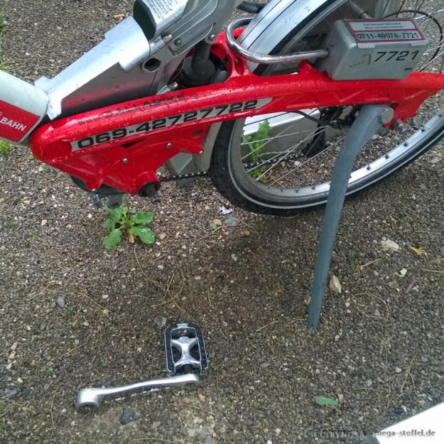 Call-a-Bike, immer noch kaputt