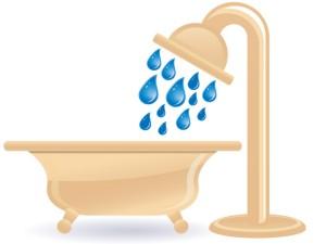 シャワーを浴びる