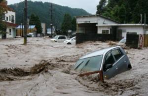 自然災害の豪雨